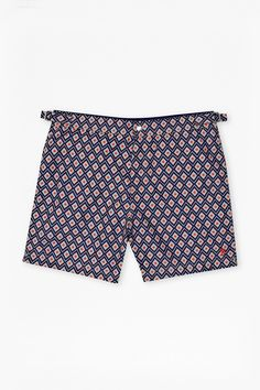 9e76c07bca Printed swim shorts Centre front popper and zip fly fastening Adjustable  side tabs at waist Interior