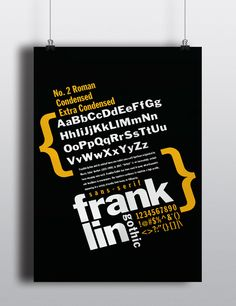 Franklin Gothic Typography Poster on Behance
