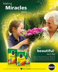 Juice Created This UK Advertising Campaign For Miracle Gro. The Concept  Shows How Gardening Nurtures Healthy Relationships As Well As Beautiful  Gardens .