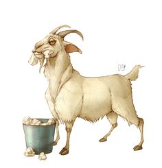 illustration, animal, goat. Dump by E_a_s_y Erika | InspireFirst