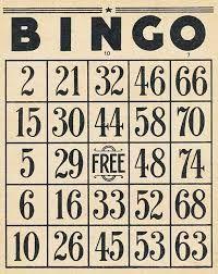 bingo card #ephemera