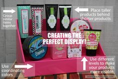 Creating the perfect product display for your Perfectly Posh products!