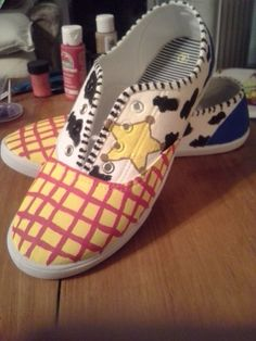 Woody from Toy Story by ScootShoes on Etsy, $30.00