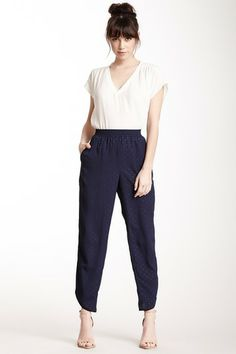 Piped Polka Dot Pant by BCBG on @HauteLook