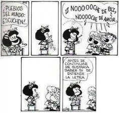 Noche de paz, noche de amor. Mafalda