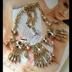 Stunning Crystal Statement Necklace Brand New