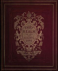 "Brown Leather Bound Book, ""Fairy Realm"" by Dore"
