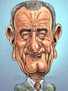 Resultado de imagen para Caricatura de Lyndon B. Johnson