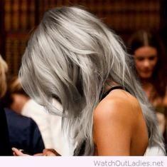 Silver color melt hair color