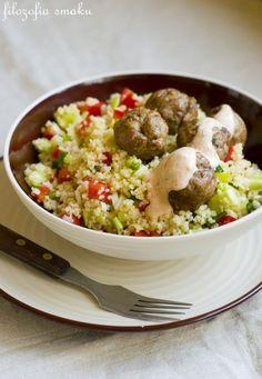 Lebanese couscous salad and meatballs | Philosophy taste