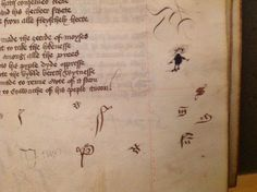 Signs of a very bored reader of Lydgate in our Ms Hunter 232. Is it a monkey?? #margnaliamonday