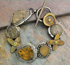 Temi Designs: Drusy Fossil Bracelet