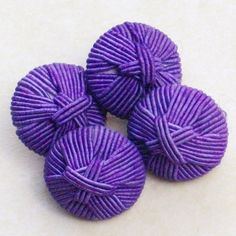 Purple woven buttons set of 4 by notionallybetter on Etsy