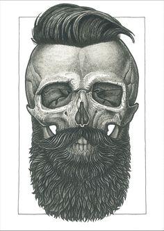 SlimSkulls — obsessedwithskulls:   Art by Vadim Zhulanov.  ...