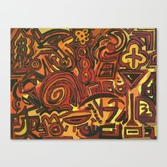 Orange Symbols Canvas Print