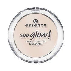 Essence Soo Glow! Cream to Powder Highlighter (11 BRL) ❤ liked on Polyvore featuring beauty products, makeup, face makeup, face powder and look on the bright side