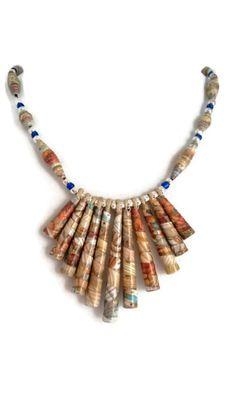 *Seabreeze* Paper Bead Necklace