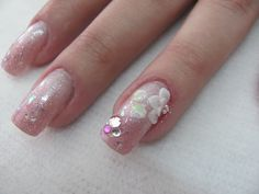 Nail art 3D - Para noivas