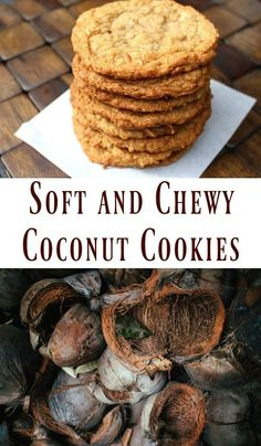 Soft and Chewy Coconut Cookies - One Hundred Dollars a Month- Soft and Chewy Coconut Cookies, cookie recipes, coconut recipes, coconut cookies, recipes with coconut Brownie Cookies, Chocolate Chip Cookies, Shortbread Cookies, Oatmeal Coconut Cookies, Coconut Flour Cookies, Baking Cookies, Chewy Coconut Cookies Recipe, Coconut Chocolate Candy Recipe, 100 Cookies Recipe