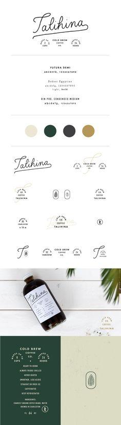 Talihina Cold Brew Coffee branding by Saturday Studio Web Design, Font Design, Brand Identity Design, Graphic Design Branding, Typography Design, Design Color, Brochure Design, Visual Identity, Identity Branding