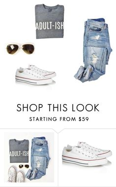 """""""not a lot"""" by ananyafrancois ❤ liked on Polyvore featuring Converse"""