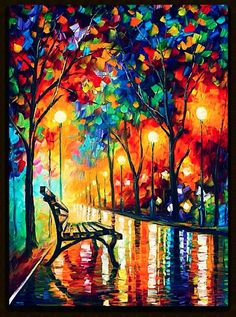 I love Leonid Afrenmv's work! So magical and colorful!