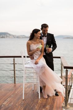 Dream of the Impossible is the inspiration for this urban, magical styled Athens Riviera photo-shoot. Where the Greek sea meets the sky, start dreaming! Greek Sea, Wedding Moments, Formal Dresses, Wedding Dresses, Athens, Wedding Bells, Real Weddings, Marie, Romantic