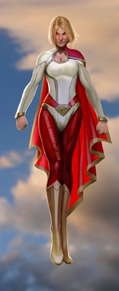 Power Girl is the Earth-Two equivalent of Supergirl, native Kryptonian and cousin to Superman. Her origins have changed several times in continuity when the Multiverse was erased Post-Crisis, and she has also been seen as a descendant of Arion with ties to Atlantis. The distinctive costume she wears lacks an emblem, and she uses this as an advantage to distract others in combat…