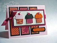 Greeting Card Birthday- Cupcake Love