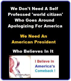 America needs a leader and Problem solver.  Boy, do we have problems.  Make America strong.  Vote Romney-Ryan 2012