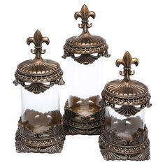 You should see this 3 Piece Glass Canister Set in Bronze on Daily Sales!