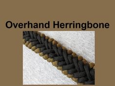 How to make an Overhand Herringbone Paracord Bracelet Tutorial (Paracord...