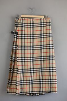 Vintage Burberry Plaid Skirt