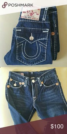 Brand new True religion jeans True religion men's jeans. My husband received for Christmas, but they are too small. Never worn. 32x33 True Religion Jeans Straight