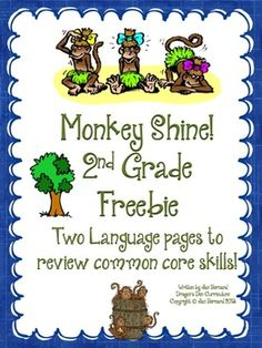 FREE! Go just a little bit bananas with this second grade freebie! This resource includes two student pages that cover two language standards.
