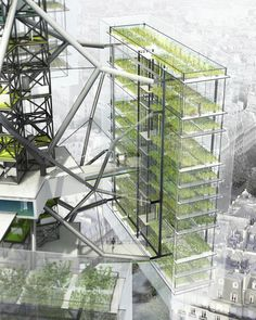 Urban Farming in Paris Urban Farming in Paris jiro khrystyna jirokhrystyna Tiny Urban gardening Urban farming architecture Urban agriculture Vertical farming Urban farming Architecture nbsp hellip Architecture Design, Green Architecture, Architecture Drawings, Sustainable Architecture, Sustainable Design, Urban Agriculture, Urban Farming, Urban Gardening, Vertical Farming