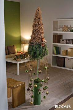 Advent im Naturlook - Dekorieren mit Zapfen und Zweigen: