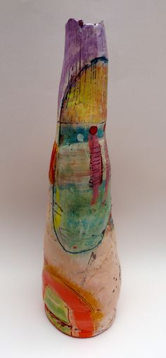 Linda Styles   Bottle form at Bevere Gallery, Worcester, August 2012