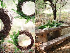 woodland wedding ideas - photo by ArinaB Photography http://ruffledblog.com/greenery-filled-wedding-ideas
