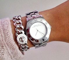 Marc jacobs - How to wear it http://www.robert-stewart.com/ladies-watches-c235/marc-jacobs-watches-c297/ladies-marc-jacobs-henry-stainless-steel-mbm3210-watch-p3386