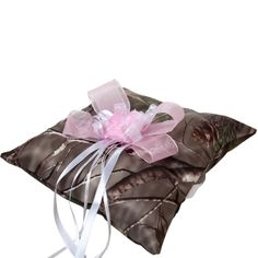 Realtree Ring Pillow with Pink Bow - Cute and Worthy of Memories