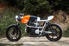 """Bike EXIF - Awesome new work from AD HOC cafe Racers. Cagiva, Ducati, and NCR all piled together in a mix of solid craftsmanship to create the """"Poptah."""""""