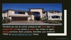 Best place to List your home for sale! www.postingfirst.com