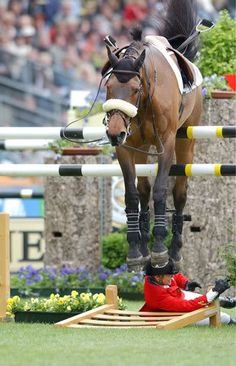 bellaragazza-belcuore: countryboysandhorses: paintobsessed: hey-il0veyou: Im just gunna hang here. wait…how??? lol Considering that I'm sure this horse tried to jump from very far away and landed on this pole, I'm gonna go ahead and say that it looks like it hurts. That poor horse. wait..what?