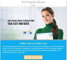 Online Survey Tool for your organization. contact us for demo: info@w2ssolutions.ca