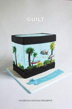 Aquarium - Cake by guiltdesserts