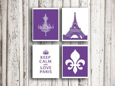 I love Paris Poster Mothers day gift Keep calm by EEartstudio