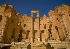 Leptis Magna roman ruins , Libya by Eric Lafforgue, via Flickr