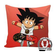 Dragon Ball Z Couch Pillow - Cute Kid Goku Evisu Throw Pillow - Double Printed