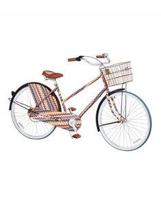 3-Speed Ladies' Comfort Bike in Brown/Coral/Blue Multi ($399.99)